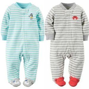 Carter's Zip-up Footed Pajamas (Set of 3)